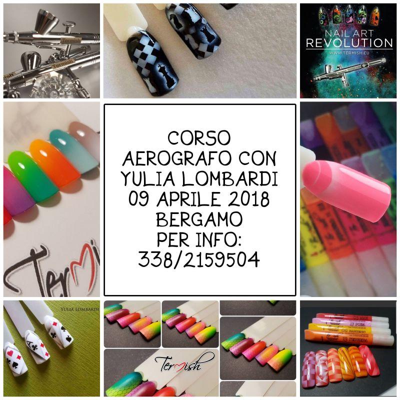 corso, formazione, aerografo, bergamo, novità, news, nail, nails, decorazione unghie, nail art,