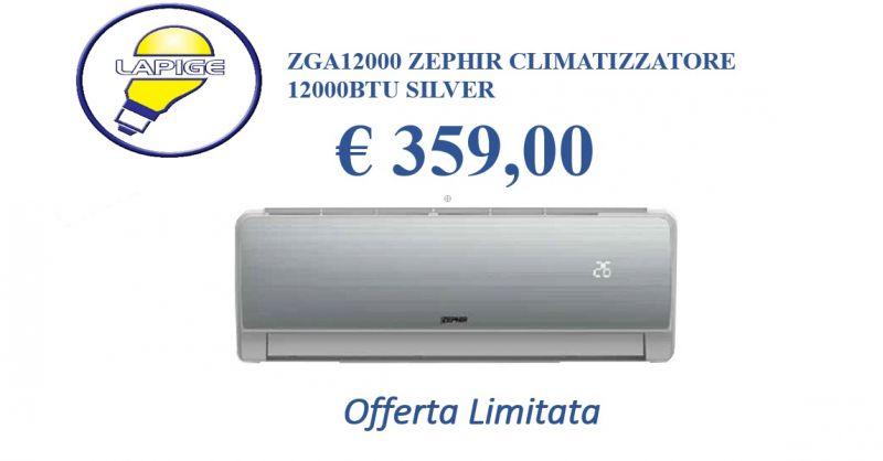 Offerta  Climatizzatore ZGA 12000 Zephir - promozione condizionatore caldo freddo Zeprhir 1200