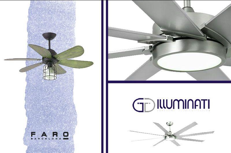 offerta lampada ventilatore faro barcelona - ventilatore con luce faro barcelona