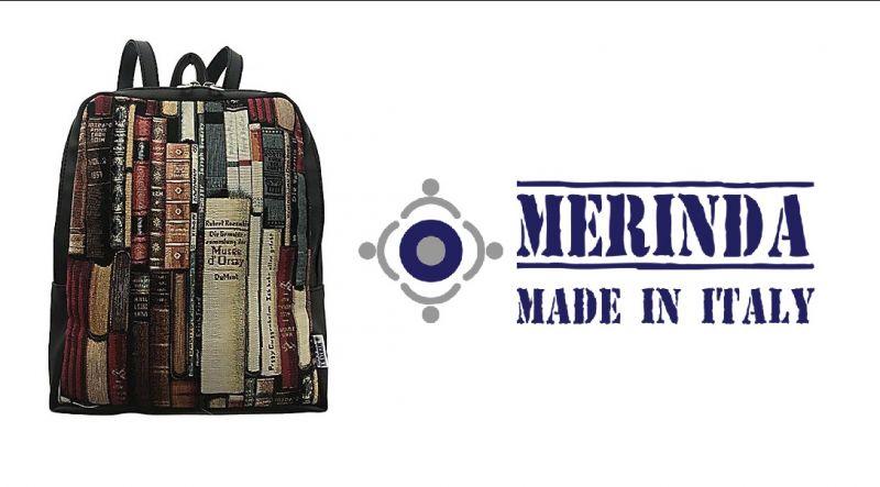 MERINDA occasione vendita zainetto stampa d'autore made in italy linea Tessuto Arte Merinda