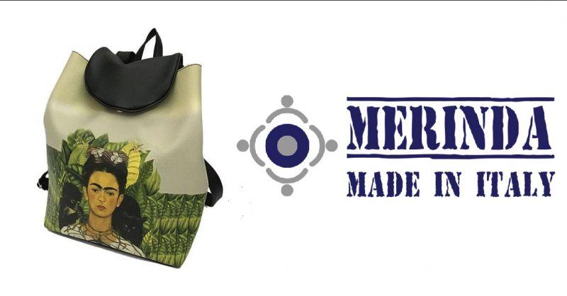 MERINDA Verkauf von künstlerischen Frauentaschen aus Italien - Kunstrucksack Frida Khalo