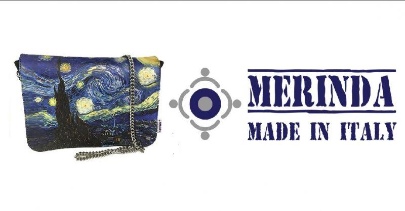MERINDA - Promotion Online-Verkauf Kunsttasche Frauentaschen made Italy Van Gogh Starry night
