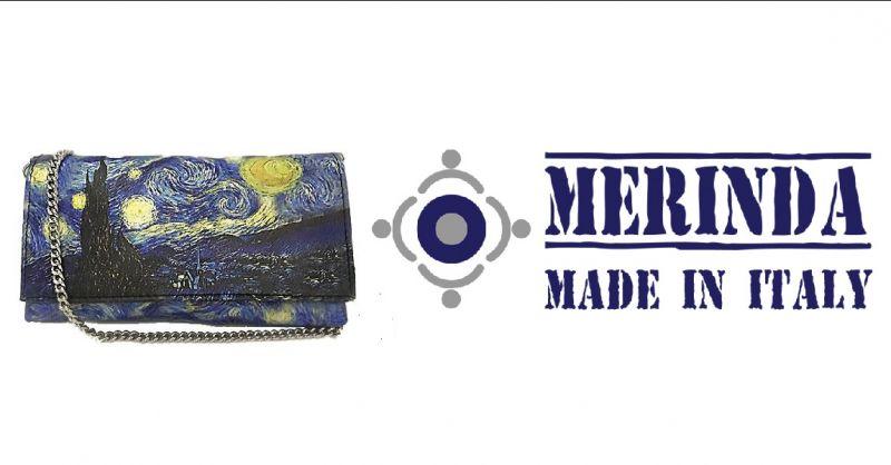 MERINDA - Verkauf von künstlerischen Handtaschen made in Italy Produktion Kunsttasche