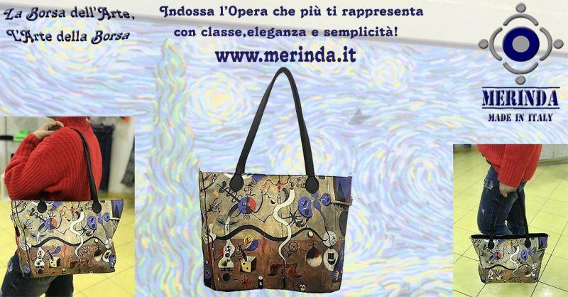MERINDA offerta vendita online borsa arte made in italy Frida Khalo Van Gogh Klimt Magritte