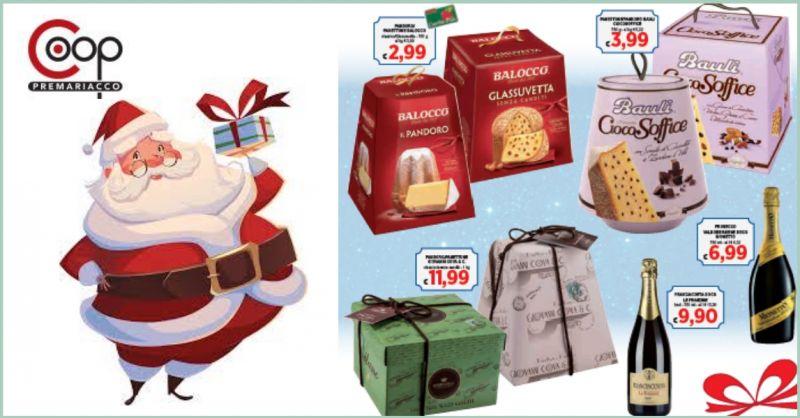 Coop Premariacco offerta dolci natalizi - occasione vendita pandori e panettoni semplici