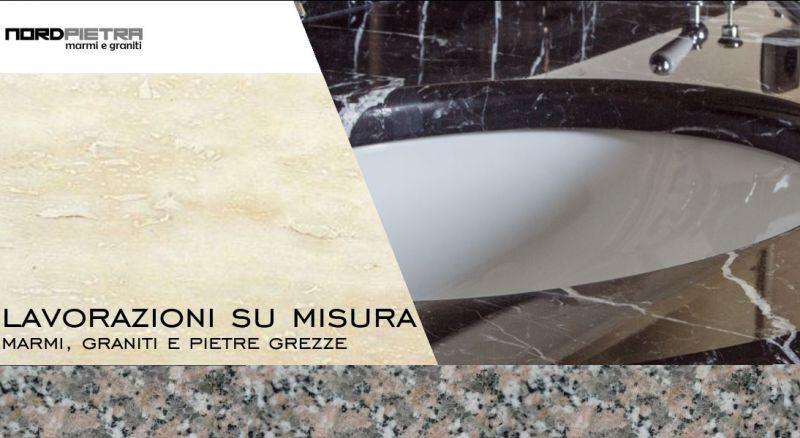 Nord Pietra - Offerta cucine su misura in marmo - Promozione lavorazione bagni in marmo e pietre