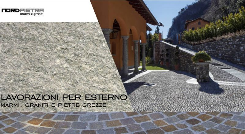 offerta manti stradali con motivi artistici - pavimentazione vialetti in pietra