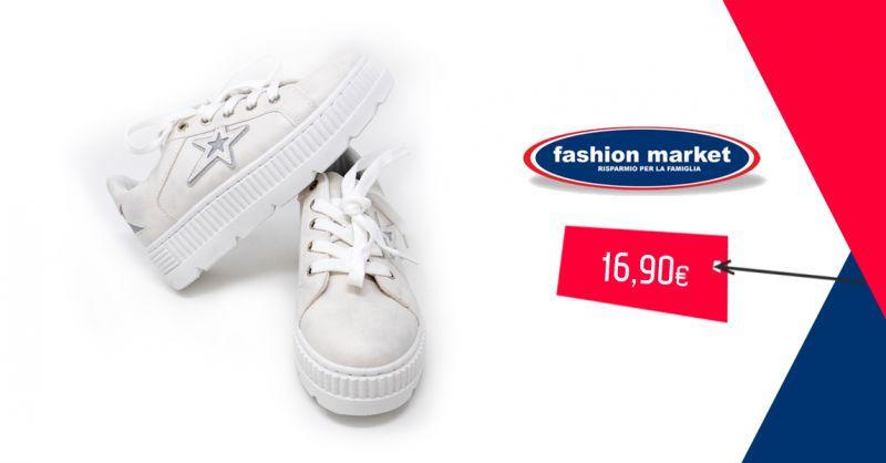 Fashion Market offerta Sneakers bianche da donna - occasione Scarpe da ginnastica donna
