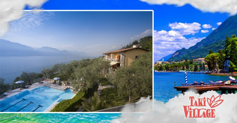 Offerta Garda hotel piscina con Pool Bar - Occasione Hotel con piscina vista lago Garda