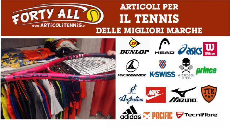 offerta vendita articoli tennis Adidas Nike Head Asics k-Swiss Wilson Australian Hydroge Prince