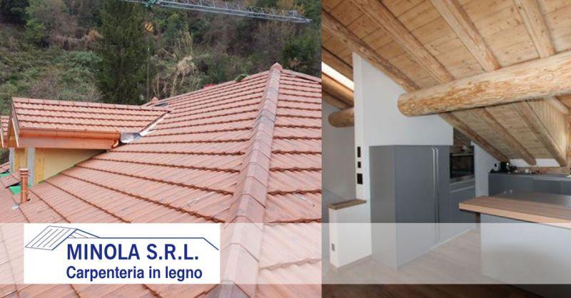 Carpenteria Minola – offerta realizzazione tetti in legno coibentati – promozione tetti in legno isolamento termico