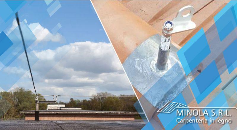 Carpenteria Minola - offerta fornitura e installazione linee vita como - occasione installazione sistemi di ancoraggio anticaduta como