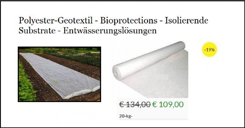 DIOTISALVI - Angebot zum Verkauf Vlies Polyester, Bio-Nutzung, Schutz und Isolierunterlagen